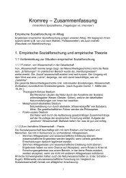 Kromrey – Zusammenfassung - Diplomer.de
