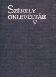 Székely Oklevéltár 5. - MEK