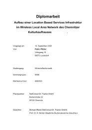 Aufbau einer Location Based Services Infrastruktur im Wireless ...