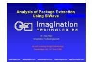 Analysis of Package Extraction Using SIWave