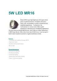 5W LED MR16