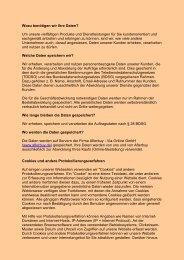 Wozu benötigen wir Ihre Daten - Ersatzteil-land.de