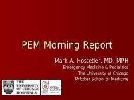 Neuroleptic Malignant Syndrome - University of Chicago
