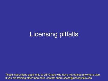 Licensing pitfalls