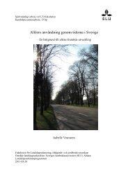 Alléers användning genom tiderna i Sverige - SLU