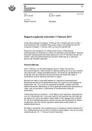 Rapport angående snöoväder 11 februari 2011 - SL