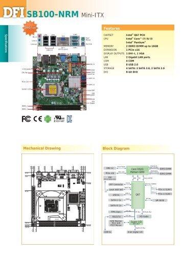 SB100-NRM Mini-ITX - Dfi