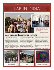 India journal - Great Lakes Leadership Academy - Michigan State ...