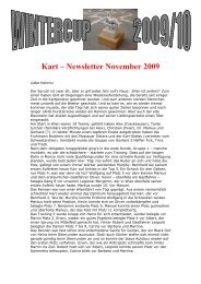 Kart – Newsletter November 2009 - APA