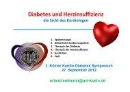 Diabetes und Herzinsuffizienz