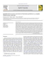 Spatially-based accuracy assessment of forestation prediction in a ...