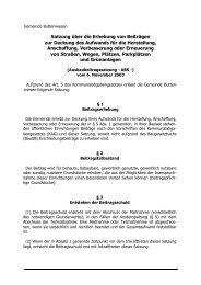 Satzung über die Erhebung von Beiträgen zur Deckung des ...
