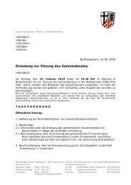 Einladung zur Sitzung des Gemeinderates