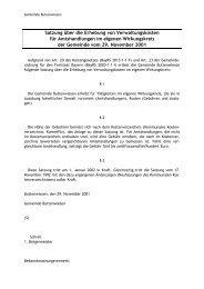 Satzung über die Erhebung von Verwaltungskosten für ...