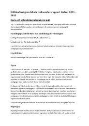 Kälkbacksvägens lokala verksamhetsrapport läsåret 2011- 2012 ...