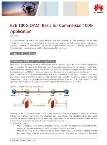 E2E 100G OAM: Basis for Commercial 100G ... - Light Reading