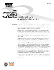 How Ethernet, RPR, and MPLS Work Together: The ... - Light Reading