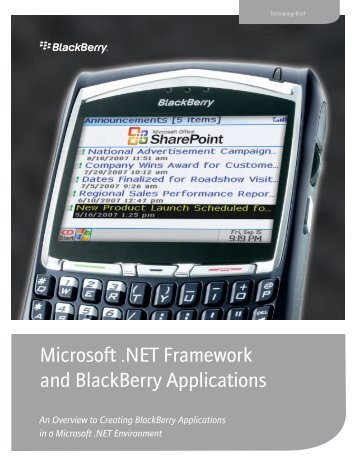 Microsoft .NET Framework and BlackBerry ... - Light Reading