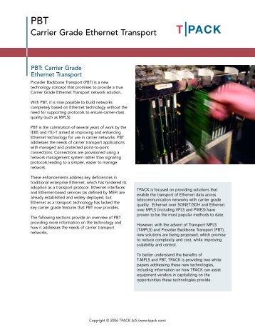 Carrier Grade Ethernet Transport - Light Reading