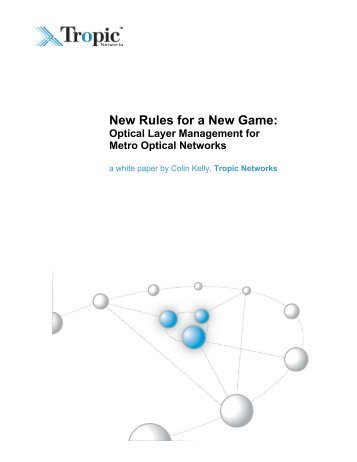 New Rules for a New Game: Optical Layer ... - Light Reading