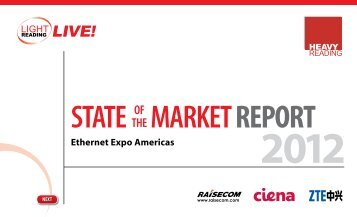 State Market RepoRt of the Ethernet Expo Americas - Light Reading