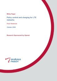 Policy control and charging for LTE networks - Light Reading