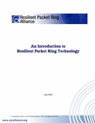 An Introduction to Resilient Packet Ring Technology - Light Reading