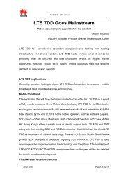 LTE TDD Goes Mainstream - Light Reading