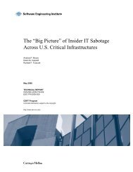 """The """"Big Picture"""" of Insider IT Sabotage Across U.S. Critical ... - CERT"""