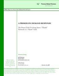 A PRIMER ON DEMAND RESPONSE - Light Reading