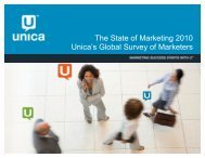 The State of Marketing 2010 Unica's Global Survey ... - Light Reading