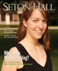 Seton Hall Magazine, Summer 2008 - Seton Hall University
