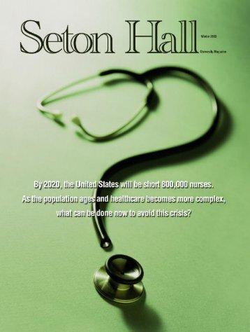 Seton Hall Magazine, Winter 2003 - Seton Hall University