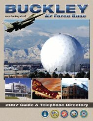 Buckley Air Force Base: 2007 Guide & Telephone ... - Keep Trees