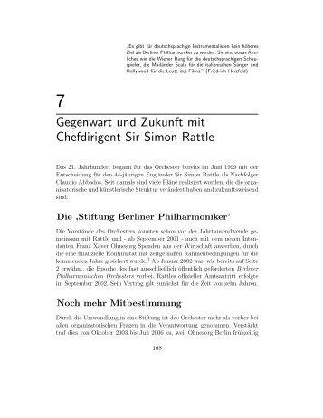 Gegenwart und Zukunft mit Chefdirigent Sir Simon Rattle