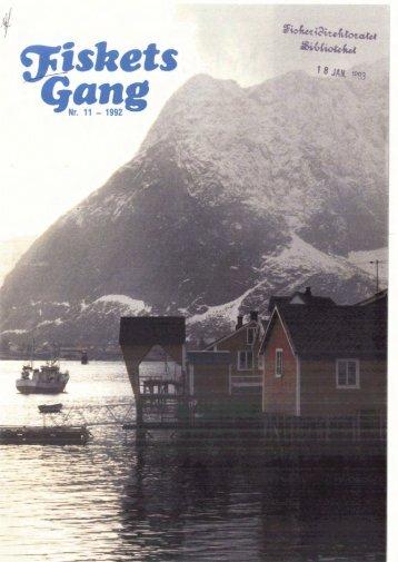 Fiskets Gang. Nr. 11-1992. 78. årgang - Havforskningsinstituttet