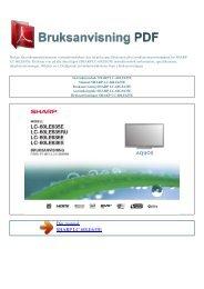 Instruktionsbok SHARP LC-60LE635E - BRUKSANVISNING PDF