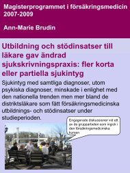 Poster AM Brudin (Pdf-fil, 278 Kb) - Karolinska Institutet