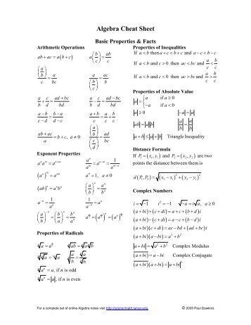 ap calculus notes cheat sheet pdf