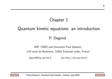 Chapter 1 Quantum kinetic equations: an introduction
