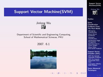Support Vector Machine(SVM)
