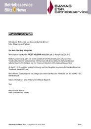 Betriebsservice Blitz News ++Prosit NEUSPAR!++ - des Betriebsrats