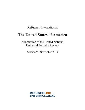 The United States of America - Universal Periodic Review