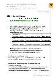 Information zum Kinderbetreuungsgeld 2008 - Boku