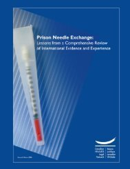 Prison Needle Exchange: Lessons from a Comprehensive Review ...