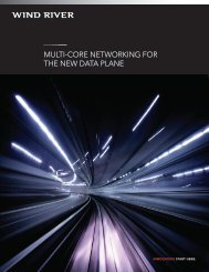 MULTI-CORE NETWORKING FOR THE NEW DATA PLANE - Intel