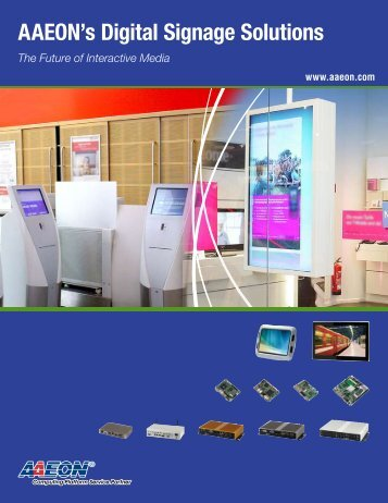 AAEON's Digital Signage Solutions - Intel