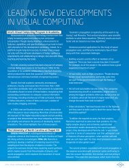 LEADING NEW DEVELOPMENTS IN VISuAL COMPuTING