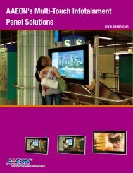 AAEON's Multi-Touch Infotainment Panel Solutions - Intel