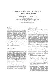 Constraint-based Motion Synthesis for Deformable Models